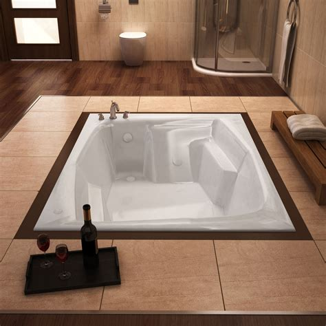botticelli 54 x 72 rectangular soaking drop in bathtub