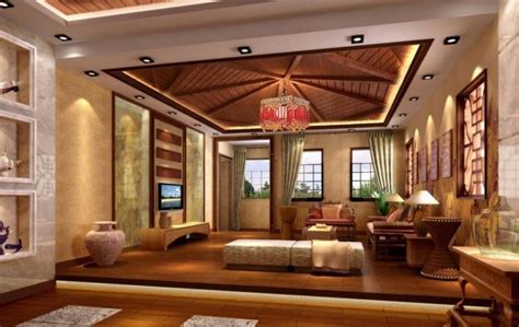 25 Elegant Ceiling Designs For Living Room ? Home And