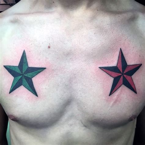 star tattoos on chest for men 80 nautical designs for manly ink ideas