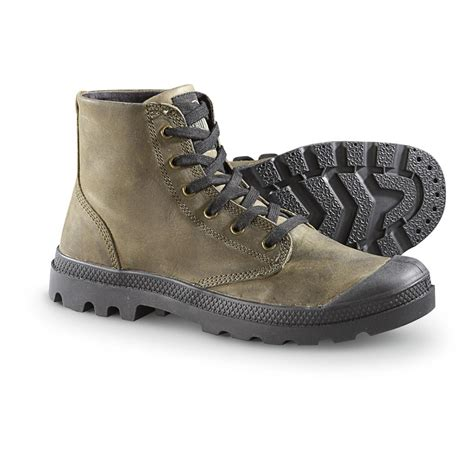 s palladium 174 pa hi leather boots chinchilla