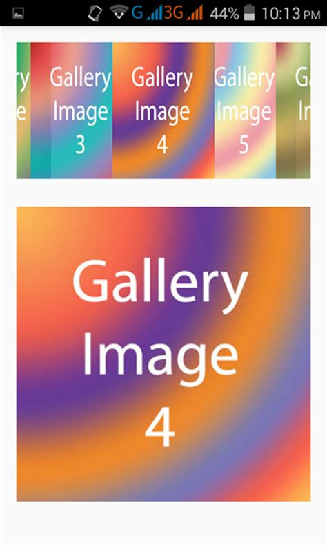 android tutorial image gallery create image gallery view in android application exle