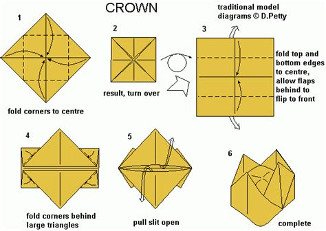 A Paper Crown - paper crown origami tutorial kiddo