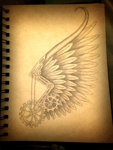tattoo design angel wings steunk hermes wing design tattoos