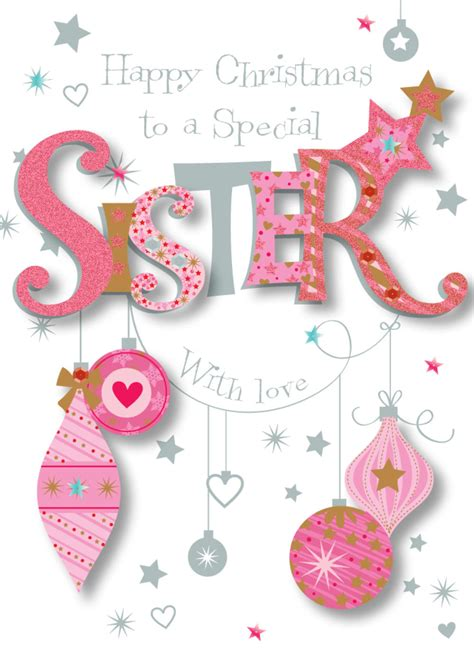 special sister happy christmas greeting card cards love kates