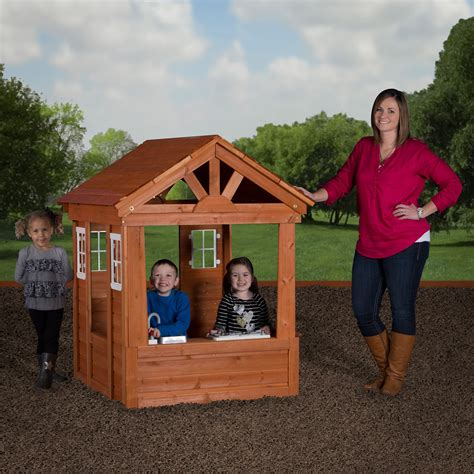 backyard discovery columbus all cedar playhouse outdoor