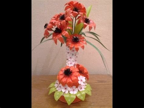 How To Make Showpiece With Paper - best out of waste plastic transformed to fabulous orange