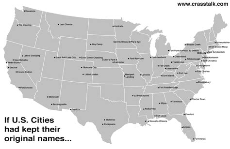 us map with largest cities if u s cities had kept their original names the mary sue