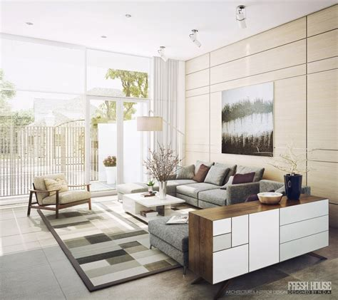 Light Filled Contemporary Living Rooms Living Room Modern Decor