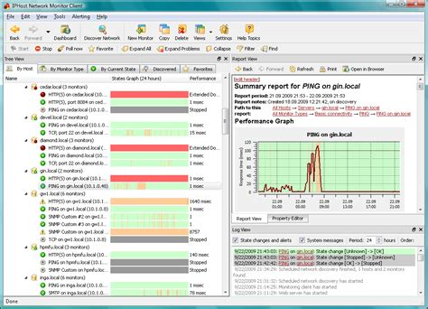ip monitor software iphost network monitor for free