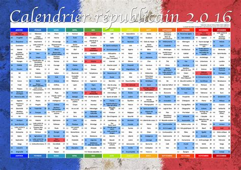 Le Calendrier Republicain Home Le Calendrier R 233 Publicain 2 0 16