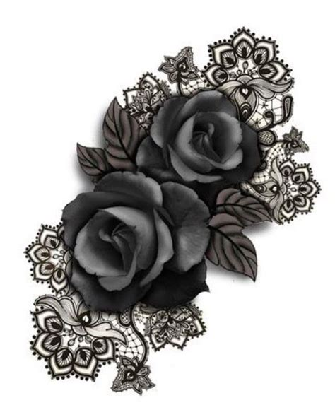 black rose lace tattoo best 25 black tattoos ideas on