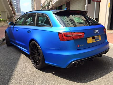 Blue Audi Rs6 by Matte Blue Audi Rs6 Is Serious Eye