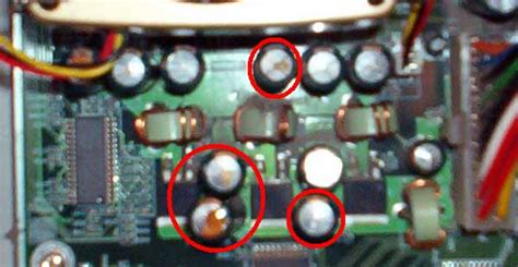 fix leaking capacitor i a samsung 550 lcd tv power led is blinking and