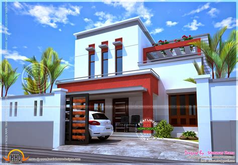 kerala home design flat roof simple flat roof house designs modern house