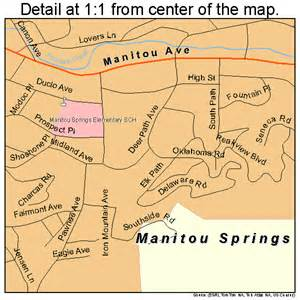 manitou springs colorado map 0848445