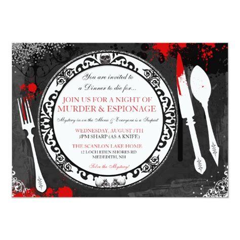 Murder Mystery Dinner Party Invite Zazzle Com Murder Mystery Dinner Template
