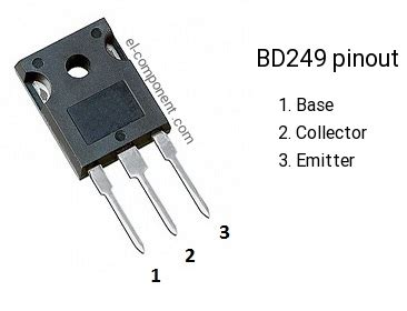 bipolar transistor bd249 n p n transistor complementary pnp replacement pinout pin configuration substitute