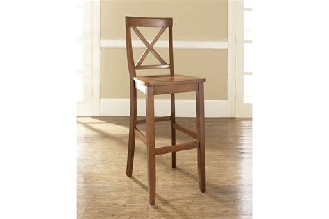 30 Inch Cherry Bar Stools by X Back Bar Stool In Classic Cherry Finish With 30 Inch