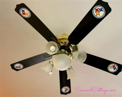 pittsburgh steelers ceiling fan how to paint steelers football ceiling fan
