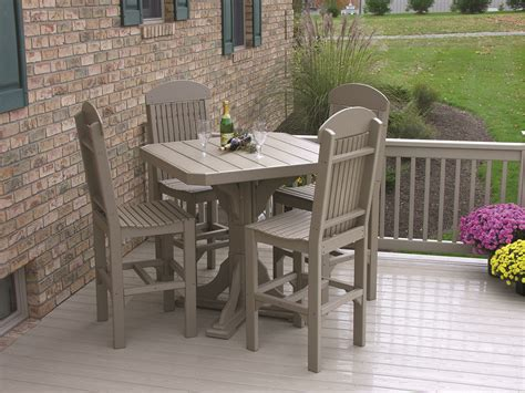 Square Table Dining Set Square Table 5 Patio Dining Set Recycled Patio Oak Things