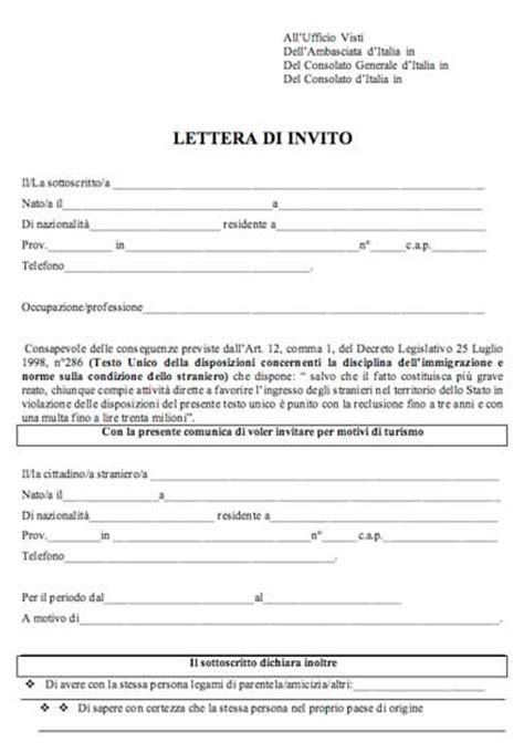 modulo rinnovo permesso di soggiorno extracomunitari lettera di invito per motivi di turismo per stranieri in