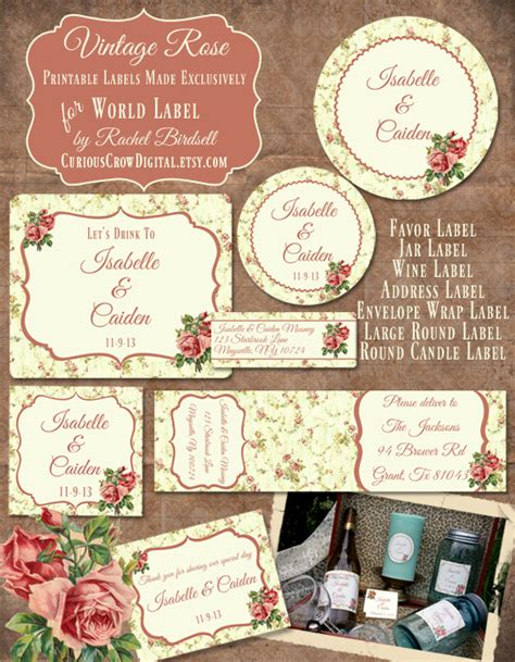 free printable vintage label templates wedding label templates worldlabel blog