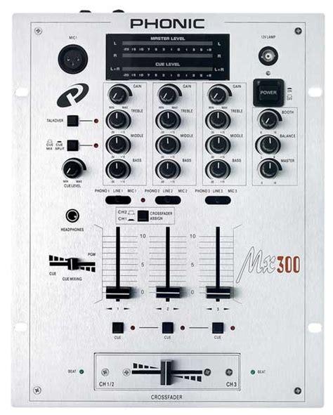 Mixer Audio Phonic phonic mx 300 xe 3 channel dj mixer 3ch mixers artsound gr e shop