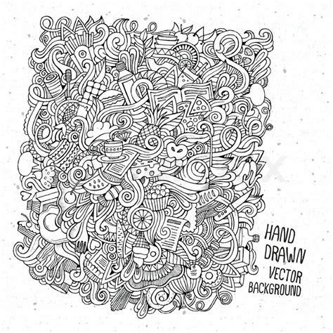 sketchbook doodle vector doodles food sketch background