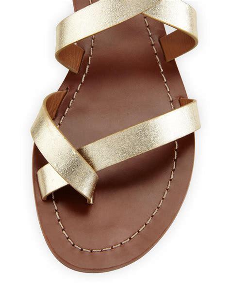 Sandal Gladiator Pria 4 lyst burch patos crisscross flat gladiator sandal in metallic