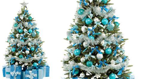 decorar un 225 rbol de navidad verde en tonos azules en