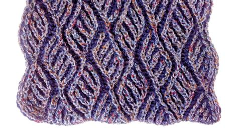 2 colour knitting two color brioche scarf knitting pattern free chart my