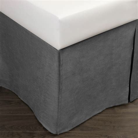 linen bed skirt damara linen bed skirt neutral grey