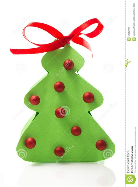 3d paper christmas tree with ribbon paper tree with balls and ribbon on white background stock photo image 62013100