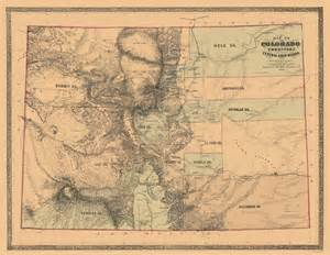 state maps colorado with the central gold region co