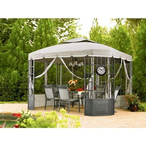 Cloth Gazebo Riplock Fabric Replacement Canopy And Netting Set For