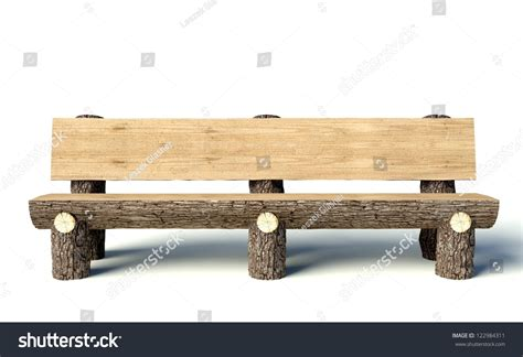 bench made out of tree trunk wooden bench made of tree trunks object stock photo 122984311 shutterstock