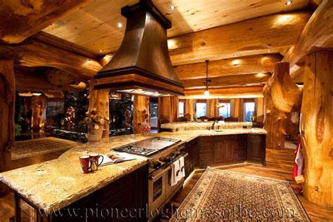Home Interior Materials by Pioneer Log Homes Of Bc Kitchen Amp Dining Pioneer Log