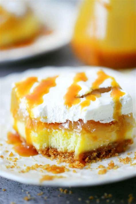 desserts caramel caramel apple cheesecake dessert recipe