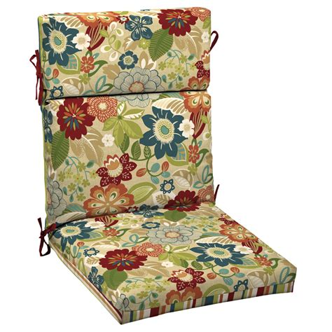 Garden Treasures Patio Furniture Replacement Cushions Shop Garden Treasures Bloomery Patio Chair Cushion At Lowes