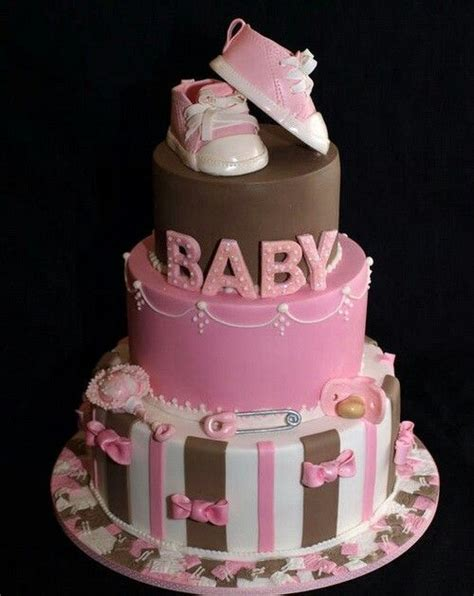 Pretty Baby Shower Cakes by Beautiful Baby Shower Cake For Cakes Cupcakes