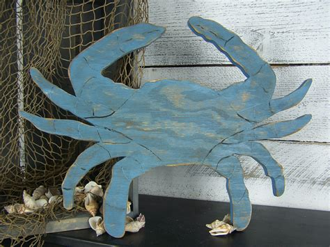 crab decorations for home blue crab decor crab sign wooden crab wall art seafood sign