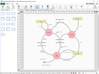 flow chart software free clickcharts charting mapping flowchart software