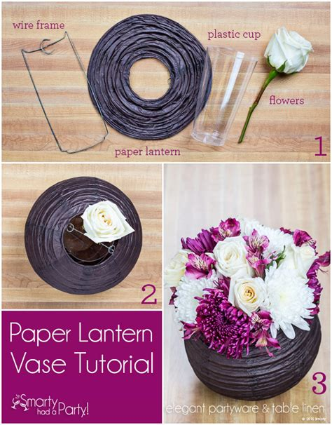 how to make centerpiece diy paper lantern vase centerpiece smarty had a