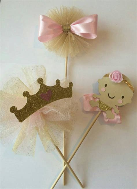 Pink Gold Baby Shower Centerpiece Princess By Princess Centerpieces For Baby Shower
