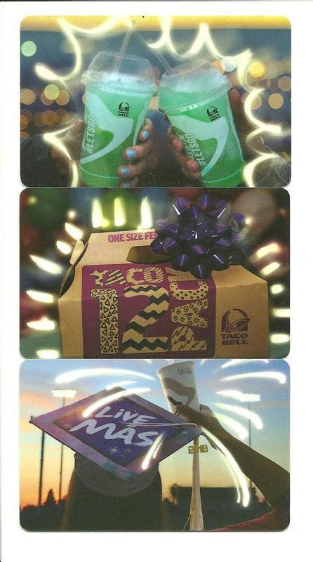 Taco Bell Gift Card Deal - lot 3 different taco bell gift cards no value collectible ebay