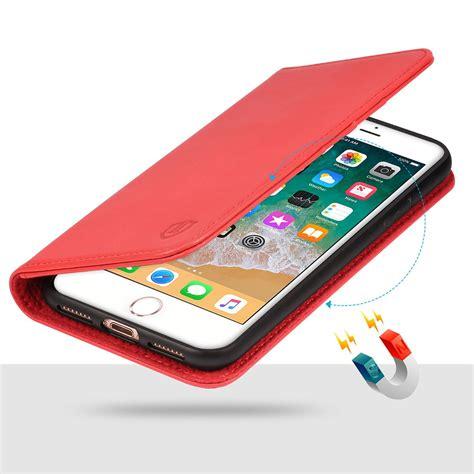 shieldon iphone 8 plus wallet color magnet closure kickstand function flip cover