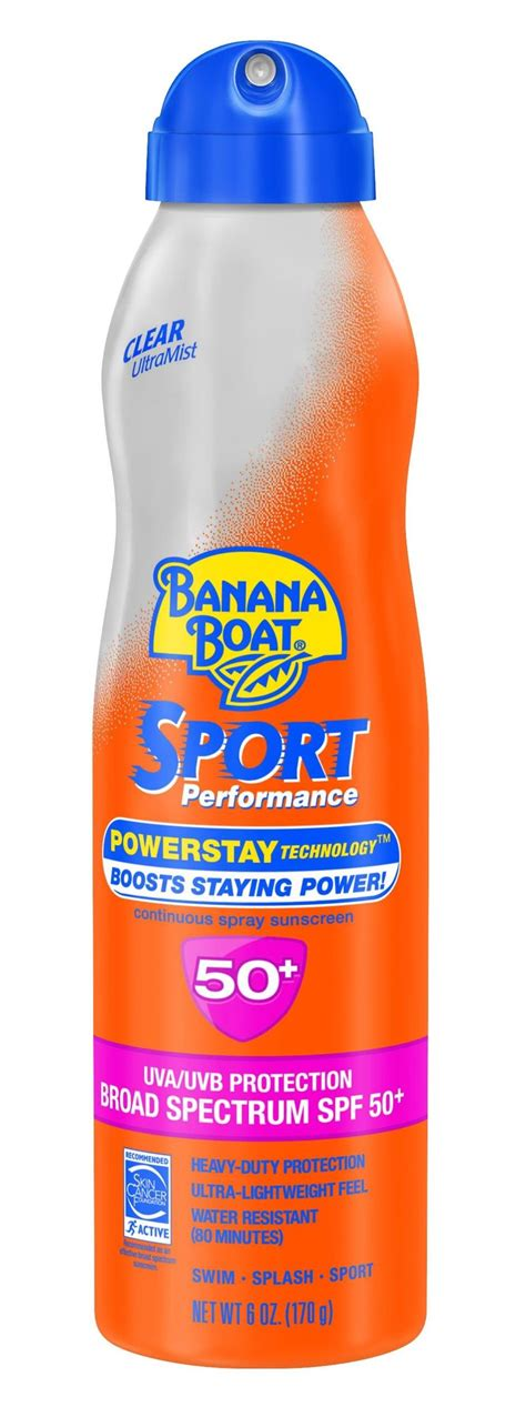 banana boat sunscreen oxybenzone banana boat sunscreen ultra mist sport performance broad