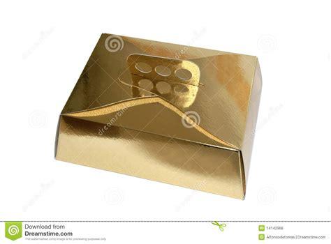 Ck Paket Ck074 Gold A goldene tortenschachtel lizenzfreie stockfotos bild 14142968
