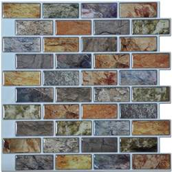 Kitchen Backsplash Sheets Art3d Peel And Stick Kitchen Backsplash Tile 12in X 11in Pack Of 6 Sheets
