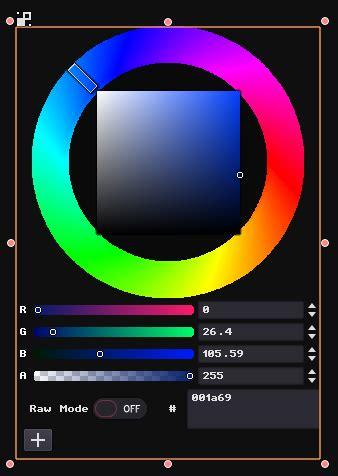 hsv color picker github nobuyukinyuu godot hsv colorpicker a color wheel